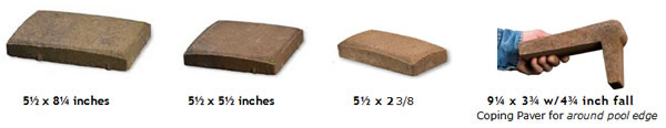 Diffe Sizes Of Thin Pavers