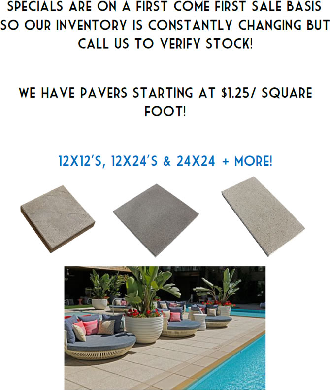 Special sale on Pavers